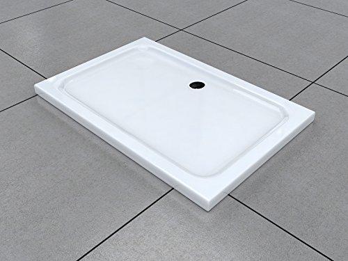 120 x 90 cm Duschtasse Duschwanne Acrylwanne Acryl Brausewanne 5 cm flach
