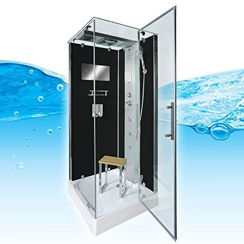 AcquaVapore DTP6038-0300R Dusche Duschtempel Komplett Duschkabine 80x80, EasyClean Versiegelung der Scheiben:Nein! +0.-EUR