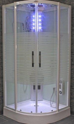 AcquaVapore DTP8068-2010 Dusche Duschtempel Komplett Duschkabine 100x100