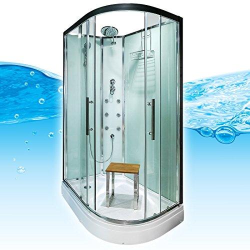 AcquaVapore QUICK16-7000R Dusche Duschtempel Komplette Duschkabine 80x120, EasyClean Versiegelung der Scheiben:Nein! +0.-EUR