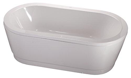 Acryl-Duobadewanne Ovo Solo | Große Badewanne | Freistehend | 180 x 80 cm | Weiß | Wanne | Badewanne | Bad | Badezimmer | Acryl | Komfort