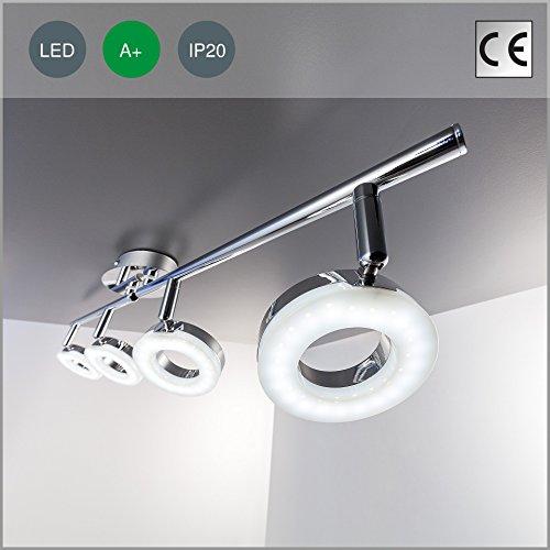 deckenleuchte led deckenlampe deckenstrahler led lampe spotleuchte leuchte rund deckenleuchte. Black Bedroom Furniture Sets. Home Design Ideas