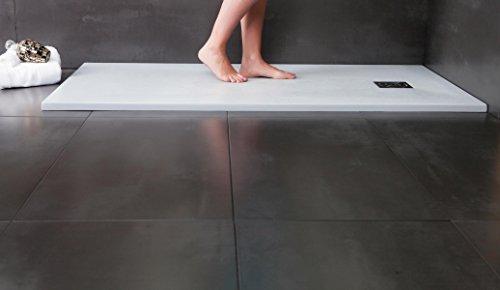 Designer Duschtasse - Mineralguss Duschtasse 90 x 120 - PIZARRA - Weiß