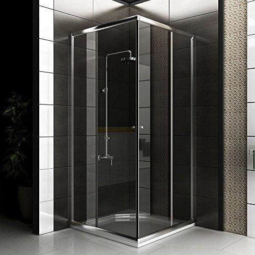 Duschabtrennung mit Glasveredelung / Dusche Eckeinstieg Komplett Dusche 80 x 80 x 190 cm / Ecke Dusche