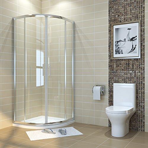 Duschkabine Runddusche 90x90 eckeinstieg Duschabtrennung Schiebetür Viertelkreisdusche für Badezimmer