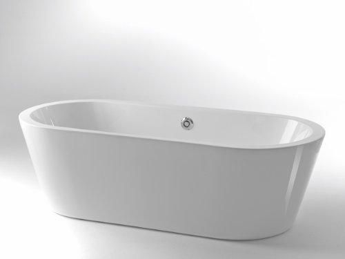 Freistehende Badewanne Onepiece Round 180 x 80 mit Geberit Ablaufsystem