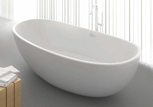 Freistehende Badewanne aus Mineralguss KZOAO-1489 Matt