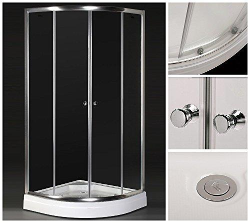 Home Deluxe Duschkabine Drop | inkl. Duschtasse und Glasaufsatz | verschiedene Größen | 80x80cm