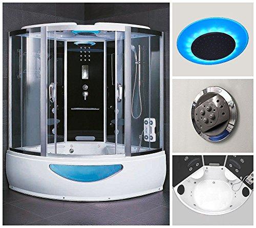 Home Deluxe Exclusive Duschtempel, inkl. Whirlpool und Dampfsauna (schwarz)