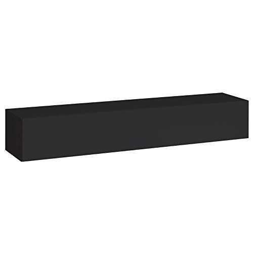 justhome switch i lowboard tv board fernsehtisch hxbxt 30x180x40 cm schwarz matt schwarz. Black Bedroom Furniture Sets. Home Design Ideas