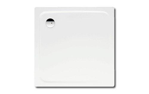 Kaldewei Superplan Quadrat Duschwanne weiß 100 x 100 x 2,5 cm 447048040001 inkl. Styroporträger / Wannenträger, Ablaufgarnitur:ohne Viega Ablaufgarnitur flach