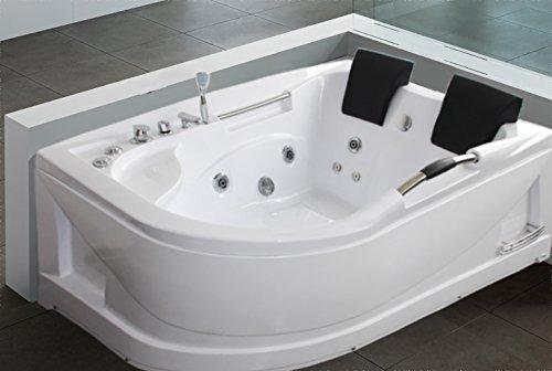 """LUXUS4HOME 2 Personen Whirlpool Badewanne """"Rondel"""" exklusiv 180 x 66 x 120 cm"""