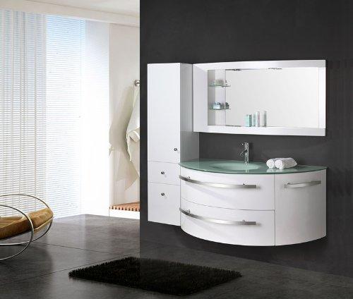 Badezimmermöbel Set Weiß Hochglanz ~ LUXUS4HOMEDesignBadmbelSetCtedAzurWeiHochglanzWaschtisch120
