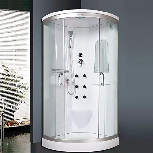 """Luxus4Home Duschtempel Set """"Lorene"""" Duschkabine 90 x 90 x 215 cm mit Armaturen Massagefunktion Dusche Sicherheitsglas (ESG)"""