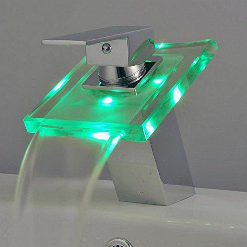 mamaison007 klassische lift wascharmaturen art und weise led licht temperatursteuerung farbe. Black Bedroom Furniture Sets. Home Design Ideas