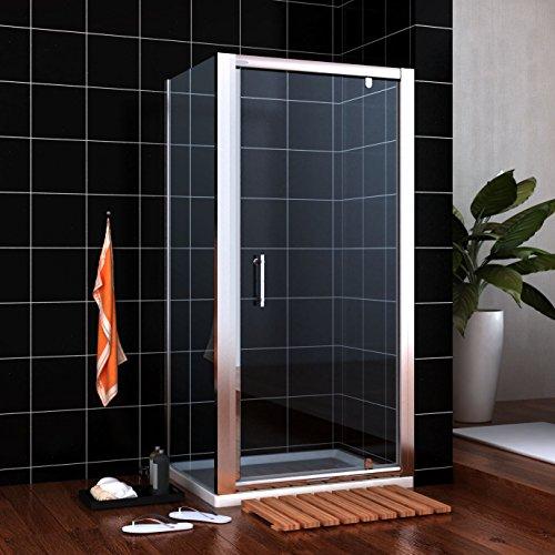 Neueröffnung 900x900mm Duschkabine Rechteck Eckeinstieg Drehpunkt Schwingtür + Seitenwand