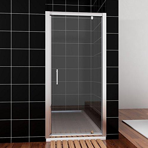 Neueröffnung 90cm Nische Schwingtür Drehpunkt Duschabtrennung Echtglas links/rechts