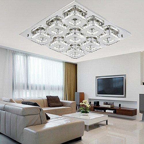 sailun 108w kaltwei quadrat led kristall deckenleuchte. Black Bedroom Furniture Sets. Home Design Ideas