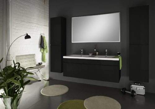 sam badm bel set 4tlg komplettset in hochglanz schwarz. Black Bedroom Furniture Sets. Home Design Ideas