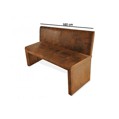 sam esszimmer sitzbank family wilson in brauner wildlederoptik 160 cm breite sitzbank mit. Black Bedroom Furniture Sets. Home Design Ideas
