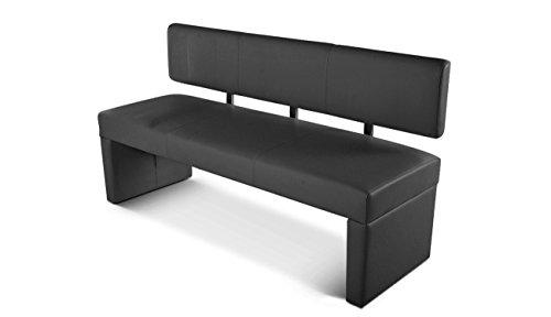 sam esszimmer sitzbank sabatina 164 cm in grau sitzbank mit r ckenlehne aus samolux bezug. Black Bedroom Furniture Sets. Home Design Ideas