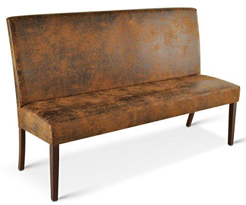 sam sitzbank salvatore iii 180 cm in wildlederoptik stoff mit kolonialfarbigen beinen aus. Black Bedroom Furniture Sets. Home Design Ideas