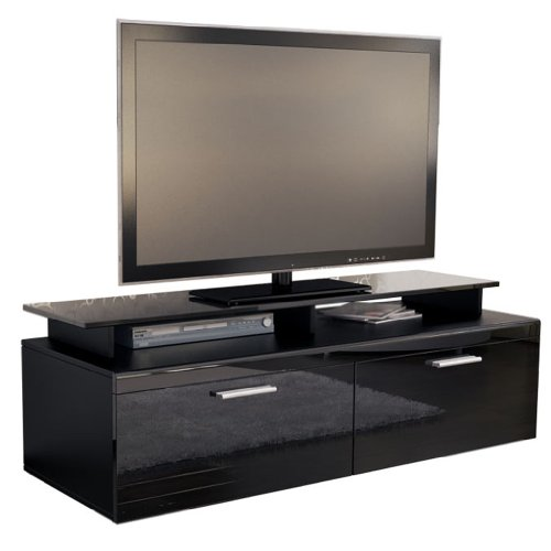 tv board lowboard atlanta korpus in schwarz matt front. Black Bedroom Furniture Sets. Home Design Ideas
