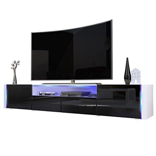 tv board lowboard marino v2 in wei schwarz hochglanz. Black Bedroom Furniture Sets. Home Design Ideas