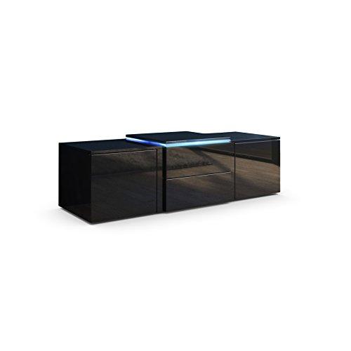 Tv Lowboard Schwarz Hochglanz Led ~ TV Board Lowboard Salina V2, Korpus und Türen in Schwarz Hochglanz