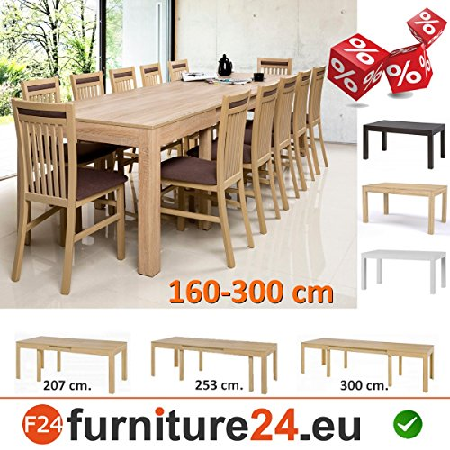 tisch k chentisch esszimmertisch esstisch wenus ausziehbar 300 cm sonoma eiche m bel24. Black Bedroom Furniture Sets. Home Design Ideas