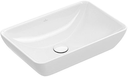 Villeroy & Boch Halbeinbau-Aufsatzwaschtisch Venticello 4113 550x360mm Weiß Alpin, 41135501