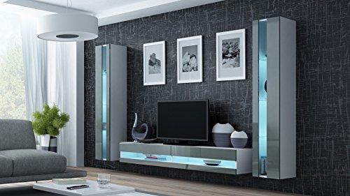 Wohnwand vigo new anbauwand wohnzimmer möbel hochglanz