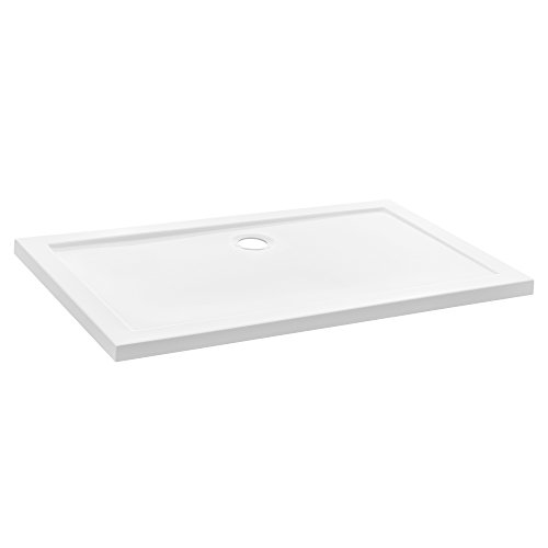 [neu.haus] Duschwanne 90x120cm reinweiß Duschtasse rechteckig extra flach Bad