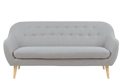 Sofa 3 Sitzer 183 X 82 X 85 Polstersofa Stoff Wohnzimmer Couch Grau