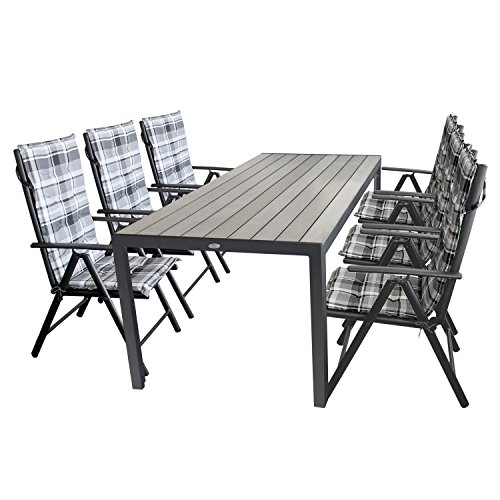 13tlg gartengarnitur gartenm bel terrassenm bel set sitzgarnitur sitzgruppe polywood 205x90cm. Black Bedroom Furniture Sets. Home Design Ideas
