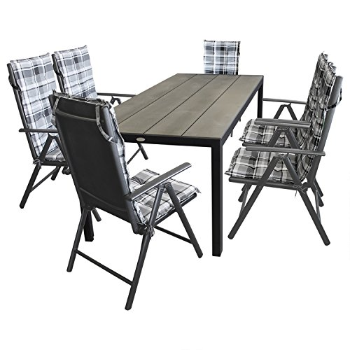 13tlg terrassenm bel gartenm bel set sitzgarnitur gartengarnitur gartentisch aluminium. Black Bedroom Furniture Sets. Home Design Ideas