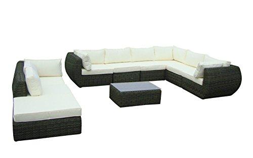 Baidani Rundrattan Garten Lounge Garnitur Majesty