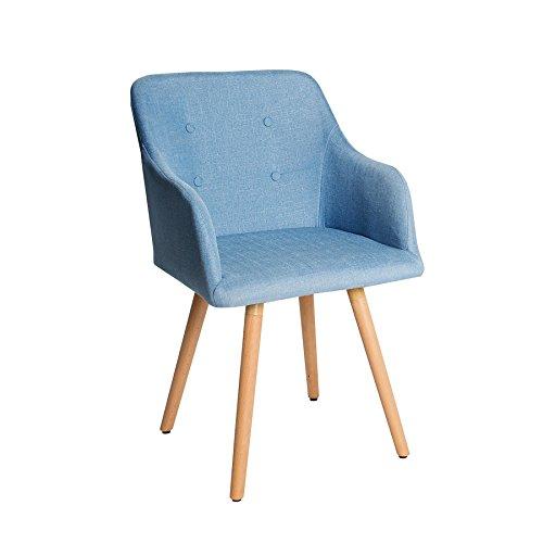 Design stuhl hellblau scandinavia meisterst ck buche for Stuhl scandinavian design