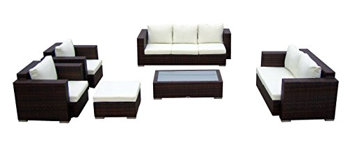Elegante Baidani Rattan Lounge-Garnitur Daylight, 21-teilig