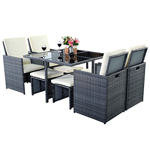 poly rattan gartenmbel sitzgarnitur lounge gartengarnitur rattan 8er set garnitur dunkel grau. Black Bedroom Furniture Sets. Home Design Ideas