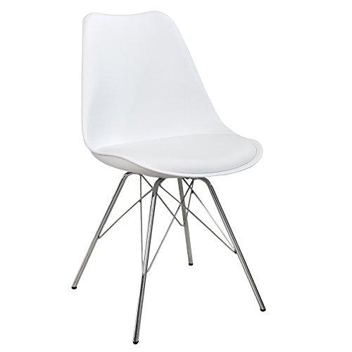 Retro designklassiker stuhl scandinavia meisterst ck wei for Designklassiker stuhl