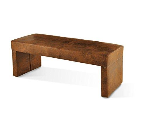 SAM® Esszimmer Sitzbank Rengo in brauner Wildleder-Optik, Bank in 140 cm Breite, Stoff-Bezug für angenehmen Sitzkomfort, frei im Raum aufstellbare Essbank ohne Rückenlehne