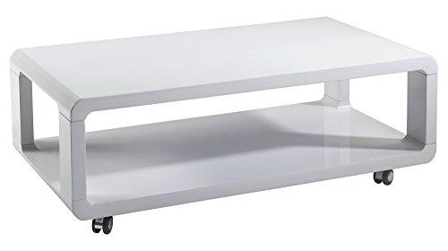 cavadore 83163 couchtisch leona moderner niedriger holztisch mit rollen und ablage. Black Bedroom Furniture Sets. Home Design Ideas