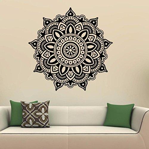 Longra Wohnaccessoires & Deko Mandala Flower indischen Schlafzimmer Wand Aufkleber Kunst Aufkleber Wandbild Home Vinyl Familie Wandaufkleber Wandtattoo