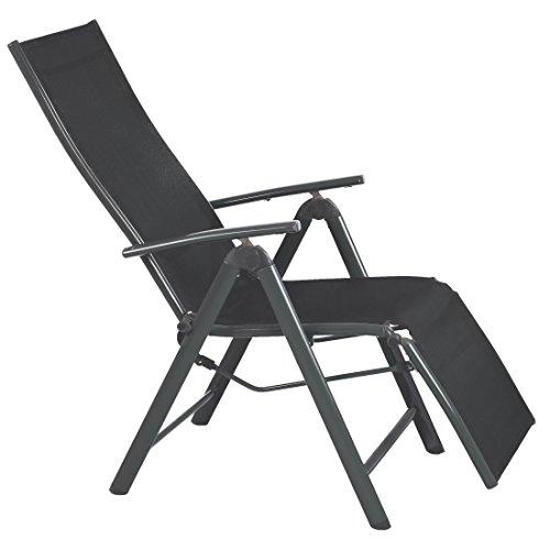 Ultranatura Aluminium Relax-Sessel mit Armlehne, Korfu-Serie, Anthrazit