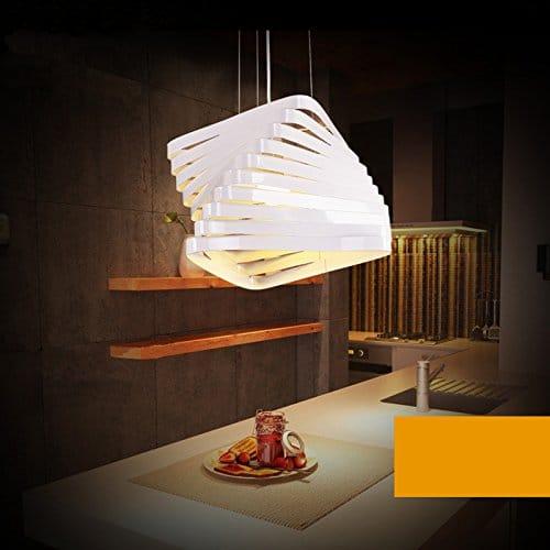 BAYTTER® Design Hängeleuchte Pendelleuchte Deckenlampe E27 für Esszimmer Schlafzimmer in weiß, Design Hängeleuchte Pendelleuchte Deckenlampe E27 in weiß, Durchmesser von 20 cm, Größe wählbar (20 x 18cm)