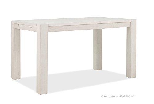 esstisch weiss rio bonito 140x80cm pinie massivholz landhaus tisch farbton white grain. Black Bedroom Furniture Sets. Home Design Ideas