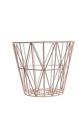 ferm LIVING - Wire Basket Korb - rosa - S - Design - Beistelltisch - Couchtisch - Sofatisch