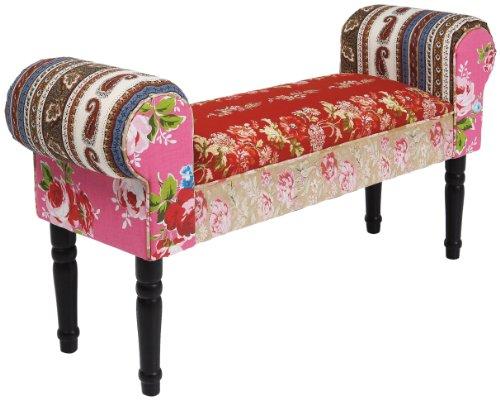 Kare 75161 Sitzbank, Stoff, bunt, 30 x 100 x 54 cm