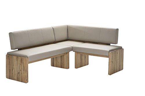 """Naturnah Möbel Eckbank """"Spring"""" aus bestem Leder und Massivholz, Wildeiche. Beste Qualität, nachhaltig produziert."""